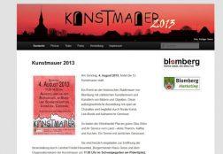 Kunstmauer Blomberg 2013