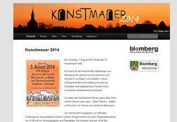 Kunstmauer Blomberg 2014